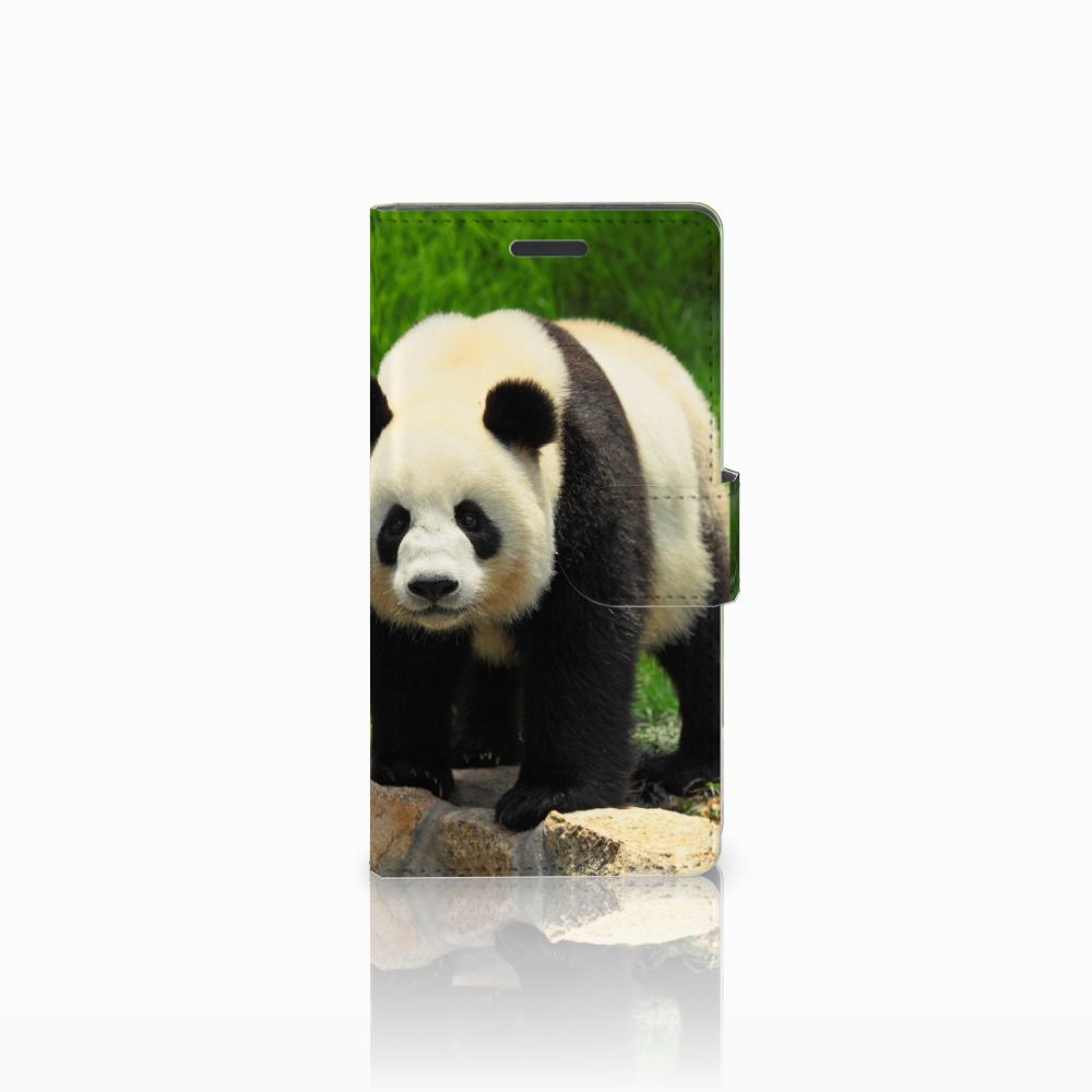 Nokia Lumia 830 Uniek Hoesje met Opbergvakjes Panda