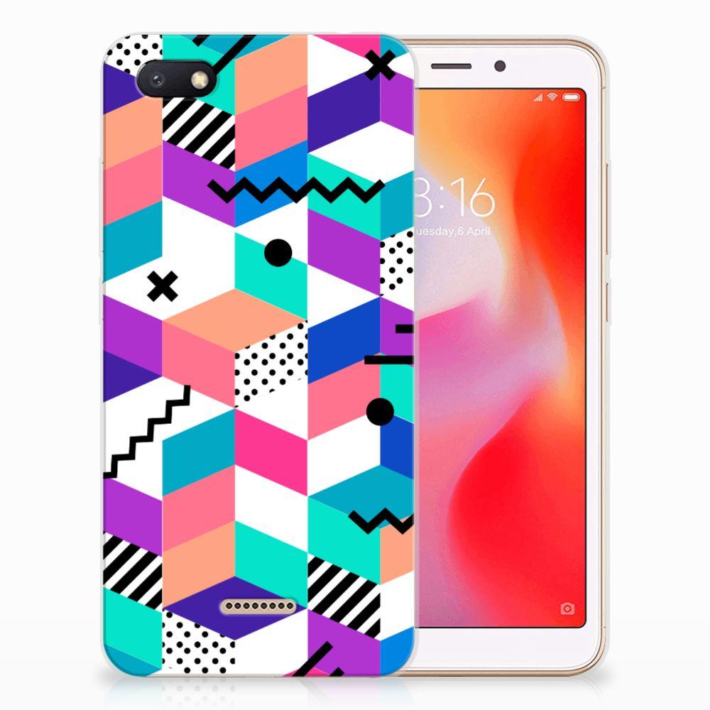 Xiaomi Redmi 6A TPU Hoesje Blokken Kleurrijk
