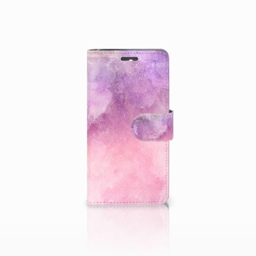 Lenovo K6 Boekhoesje Design Pink Purple Paint