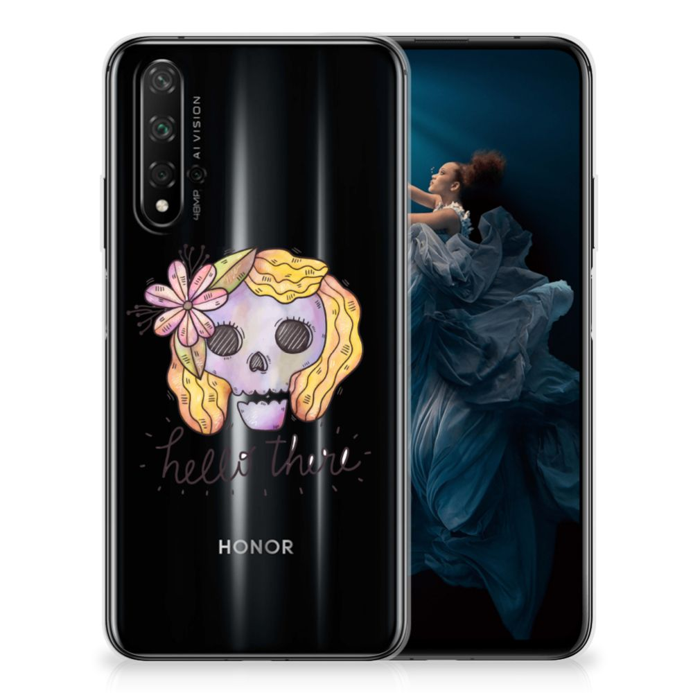 Silicone Back Case Honor 20 Boho Skull