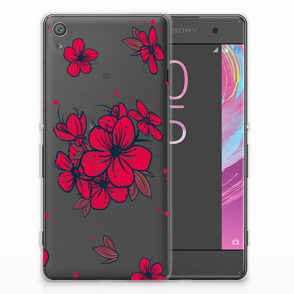 Sony Xperia XA | XA Dual TPU Hoesje Design Blossom Red