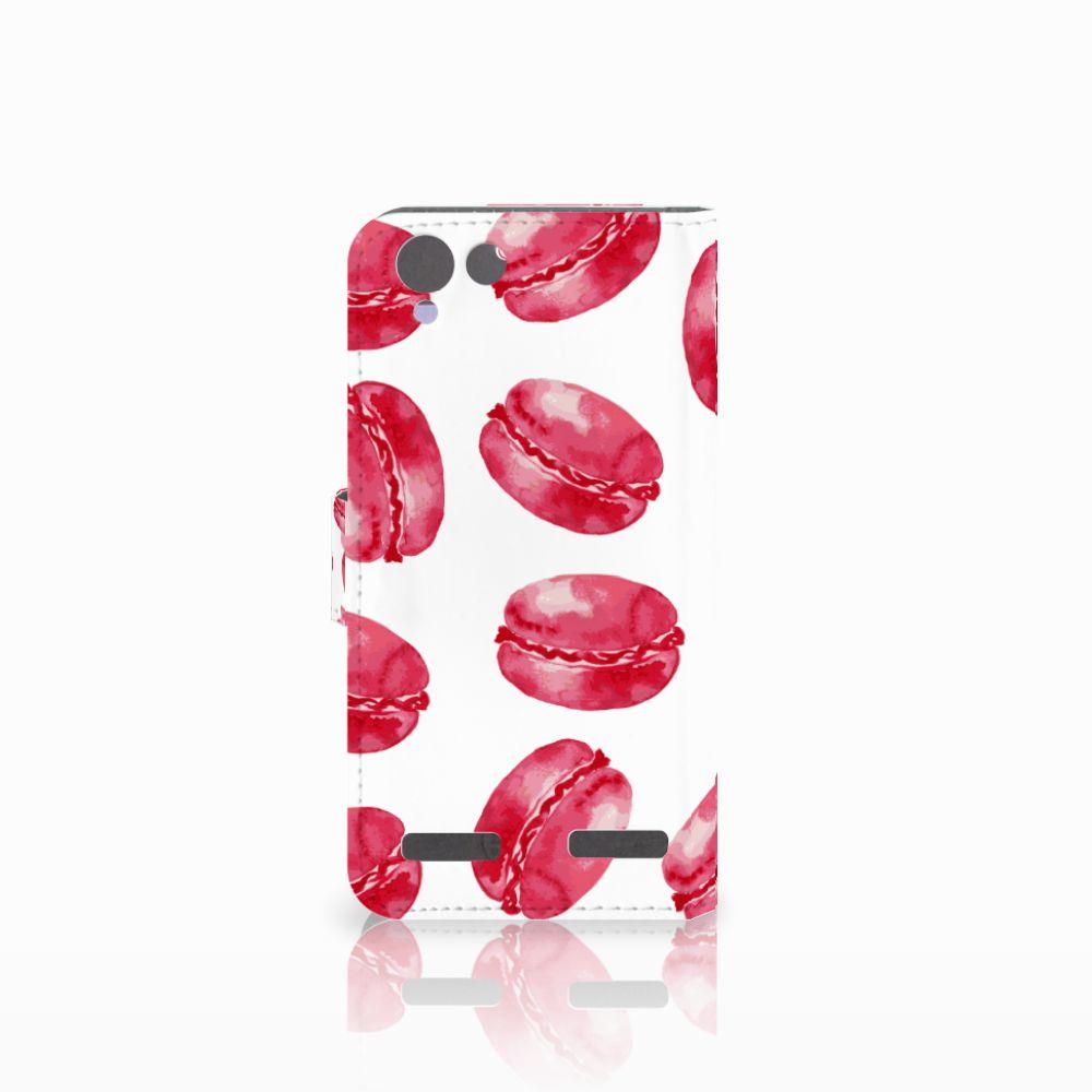 Lenovo Vibe K5 Book Cover Pink Macarons