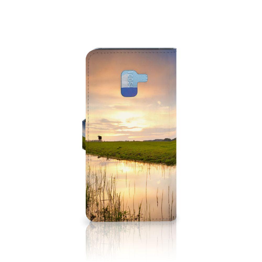 Samsung Galaxy A8 Plus (2018) Telefoonhoesje met Pasjes Koe