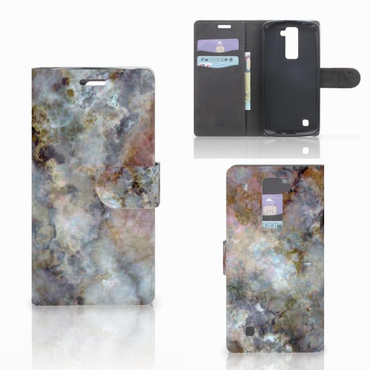 LG K10 2015 Bookcase Marmer Grijs