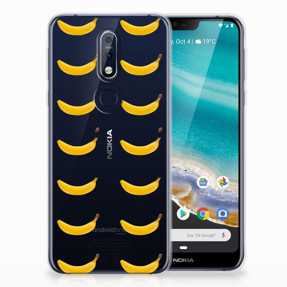 Nokia 7.1 Siliconen Case Banana