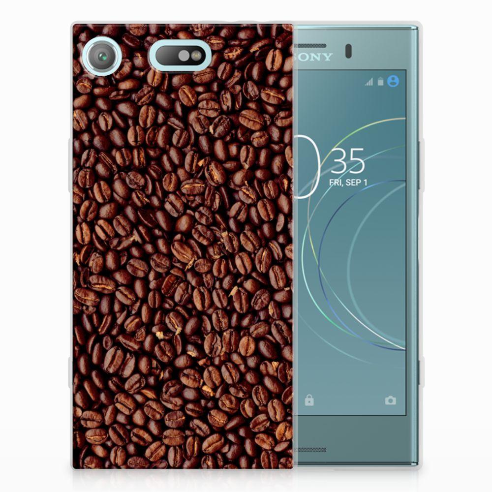 Sony Xperia XZ1 Compact Siliconen Case Koffiebonen