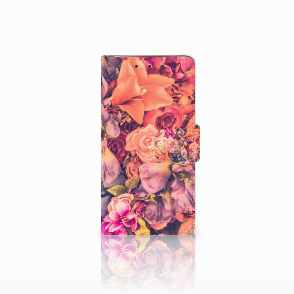 HTC One M7 Boekhoesje Design Bosje Bloemen