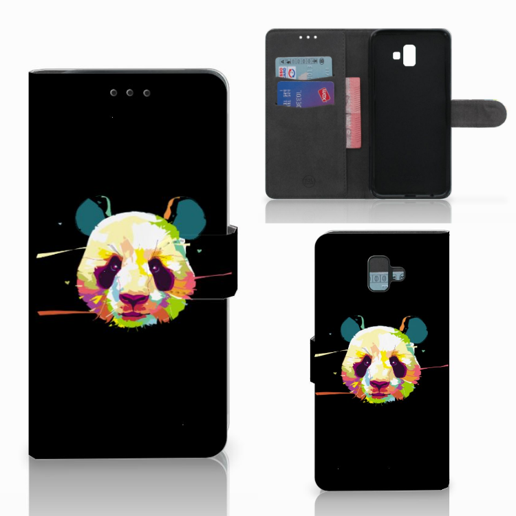 Samsung Galaxy J6 Plus (2018) Leuk Hoesje Panda Color