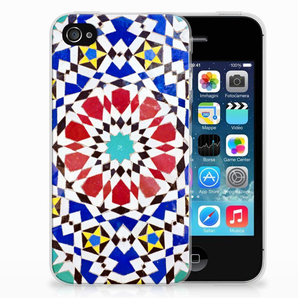Apple iPhone 4   4s TPU Siliconen Hoesje Mozaïek