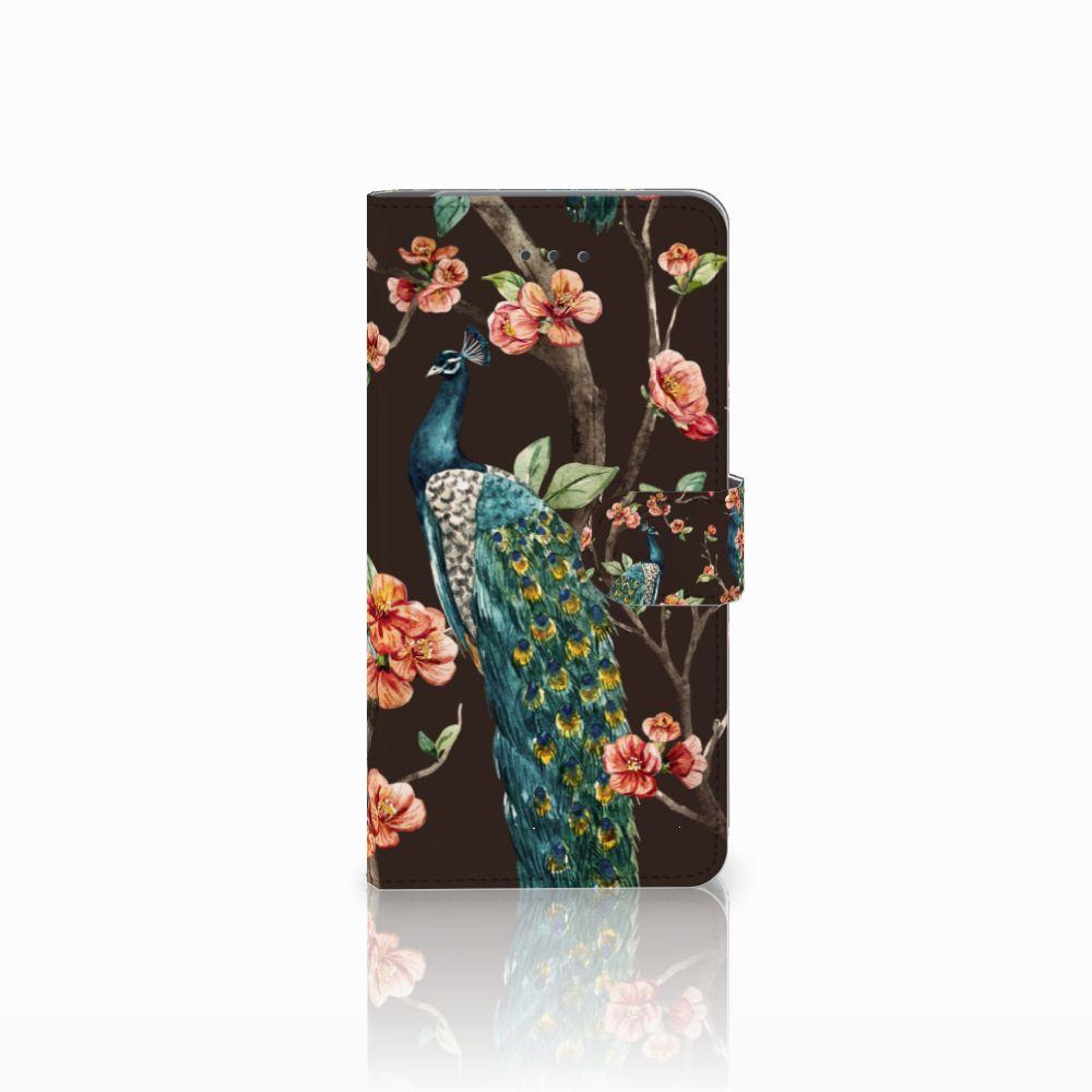 Samsung Galaxy J7 (2018) Boekhoesje Design Pauw met Bloemen