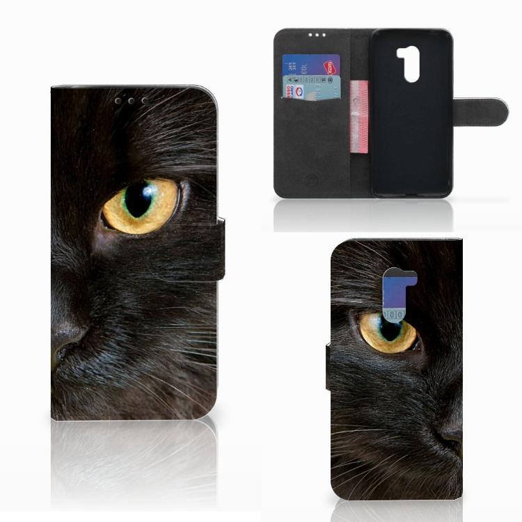 Xiaomi Pocophone F1 Telefoonhoesje met Pasjes Zwarte Kat