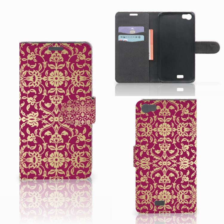 Wallet Case Wiko Lenny Barok Pink