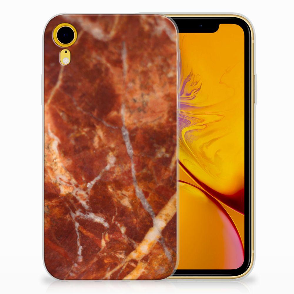 Apple iPhone Xr TPU Hoesje Design Marmer Bruin