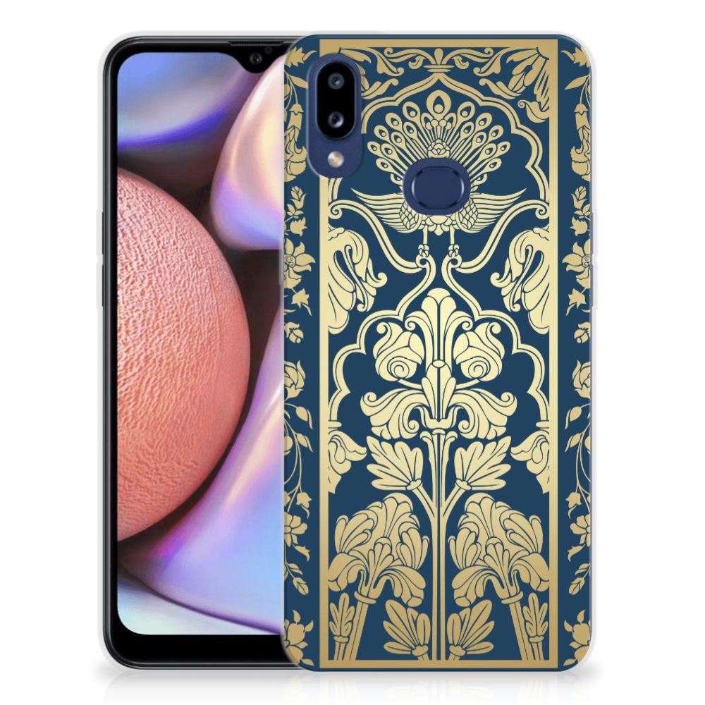 Samsung Galaxy A10s TPU Case Golden Flowers
