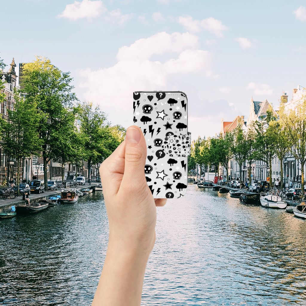 Apple iPhone 5 | 5s | SE Uniek Boekhoesje Silver Punk