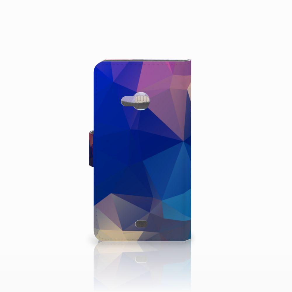 Microsoft Lumia 535 Bookcase Polygon Dark