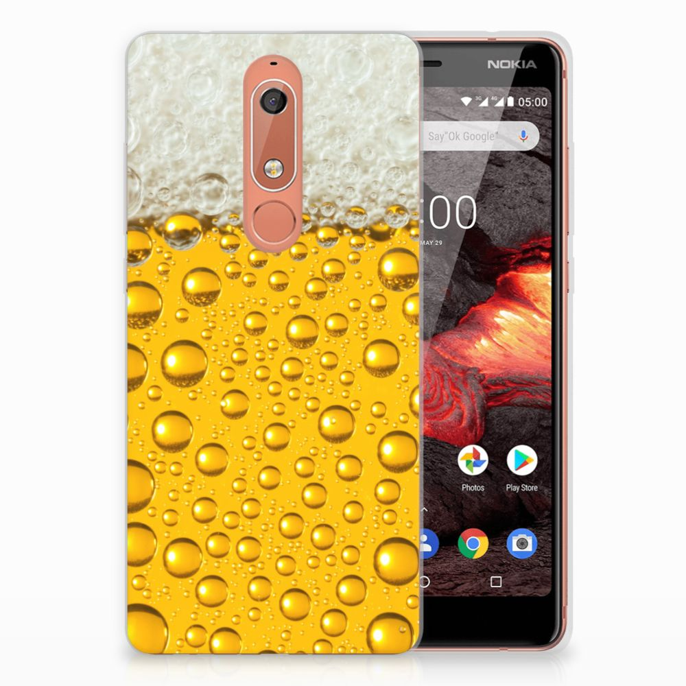 Nokia 5.1 (2018) Siliconen Case Bier