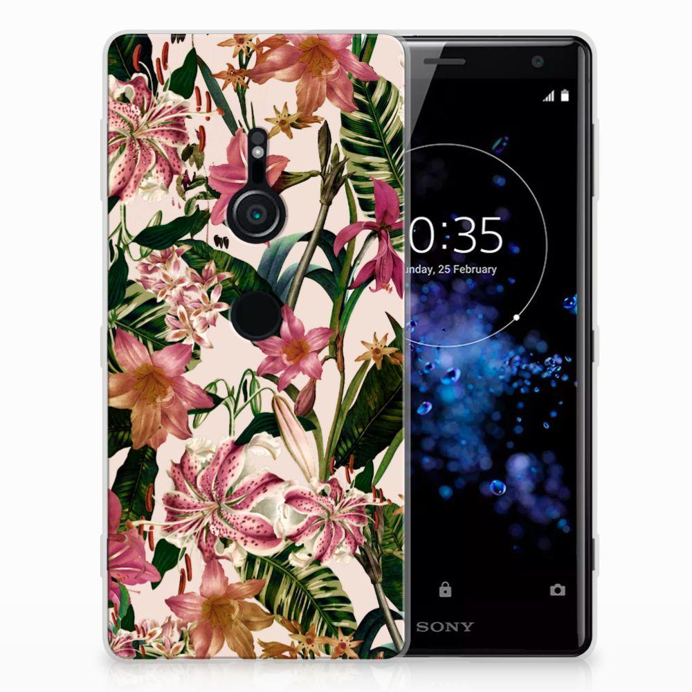 Sony Xperia XZ2 Uniek TPU Hoesje Flowers