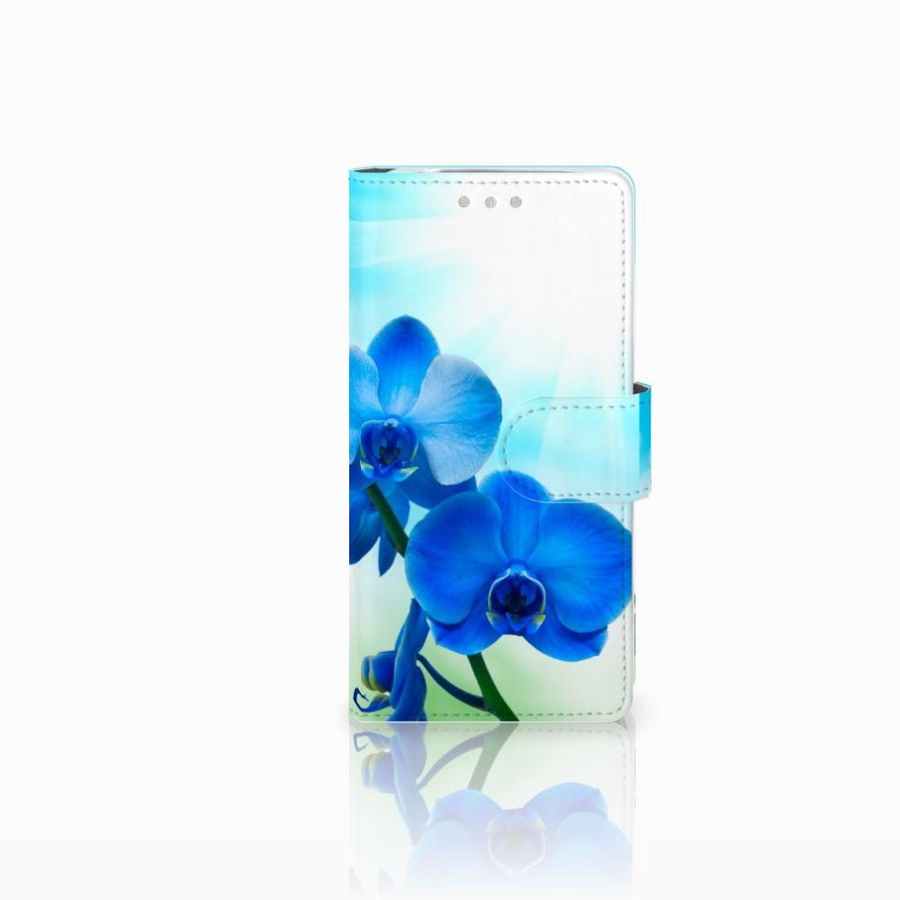 Sony Xperia XZ2 Compact Boekhoesje Design Orchidee Blauw