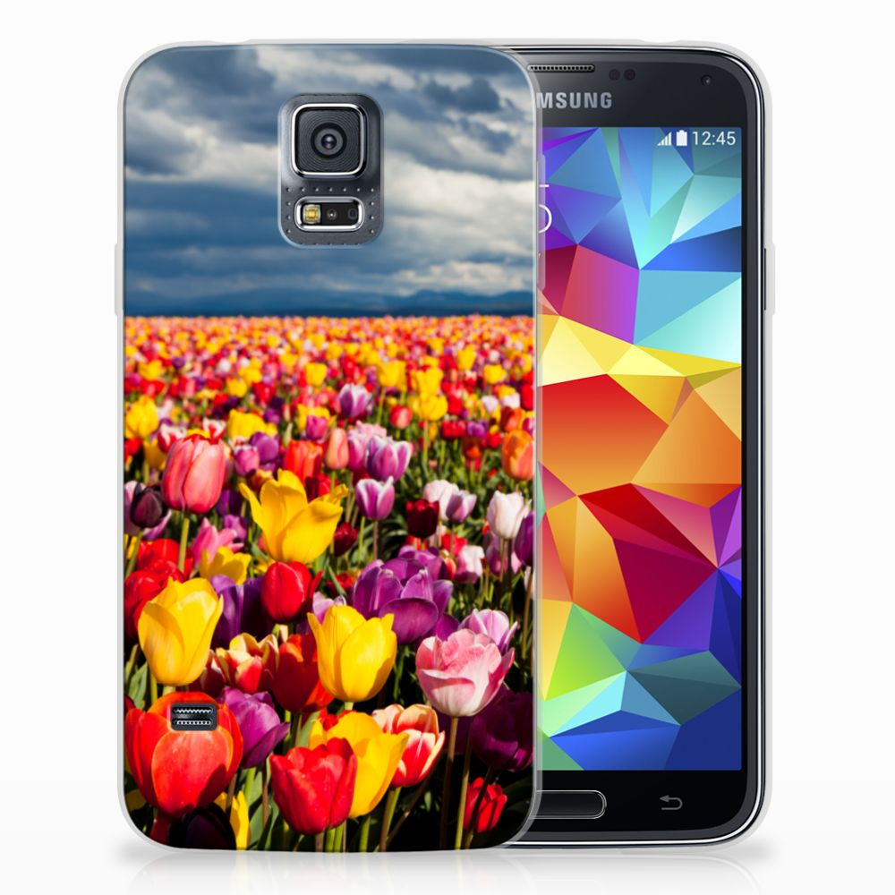 Samsung Galaxy S5 Uniek TPU Hoesje Tulpen