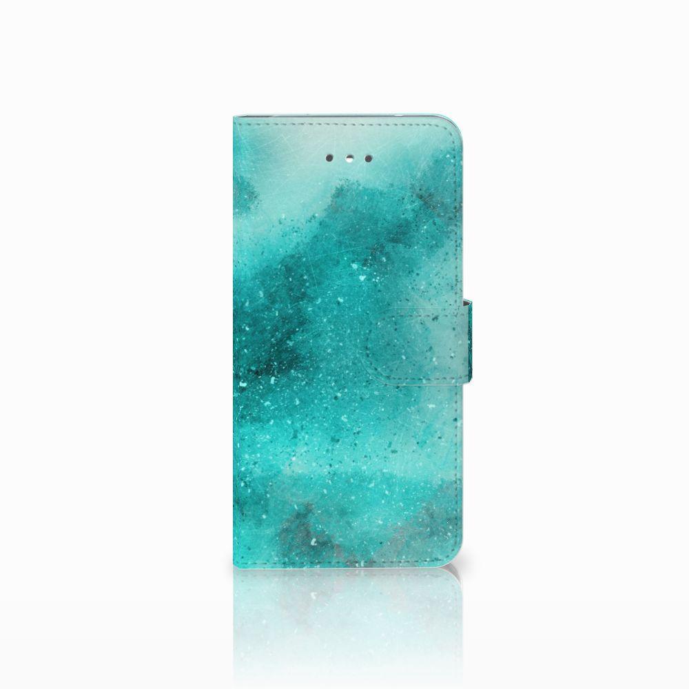 LG Nexus 5X Uniek Boekhoesje Painting Blue