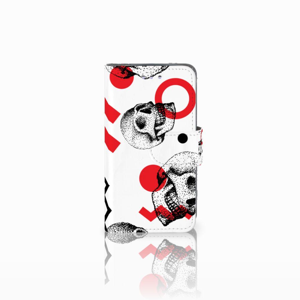 Samsung Galaxy S3 Mini Boekhoesje Design Skull Red