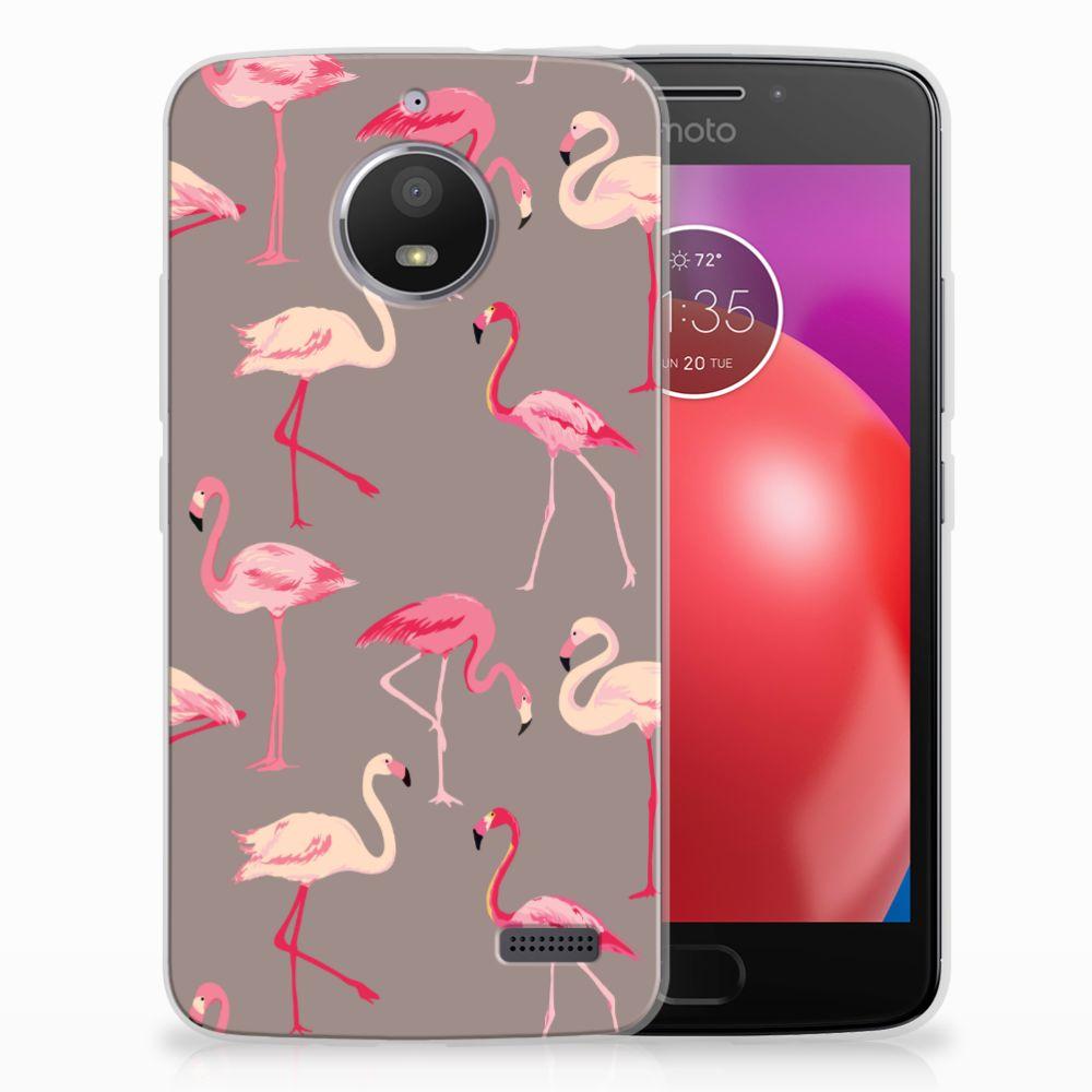Motorola Moto E4 Uniek TPU Hoesje Flamingo