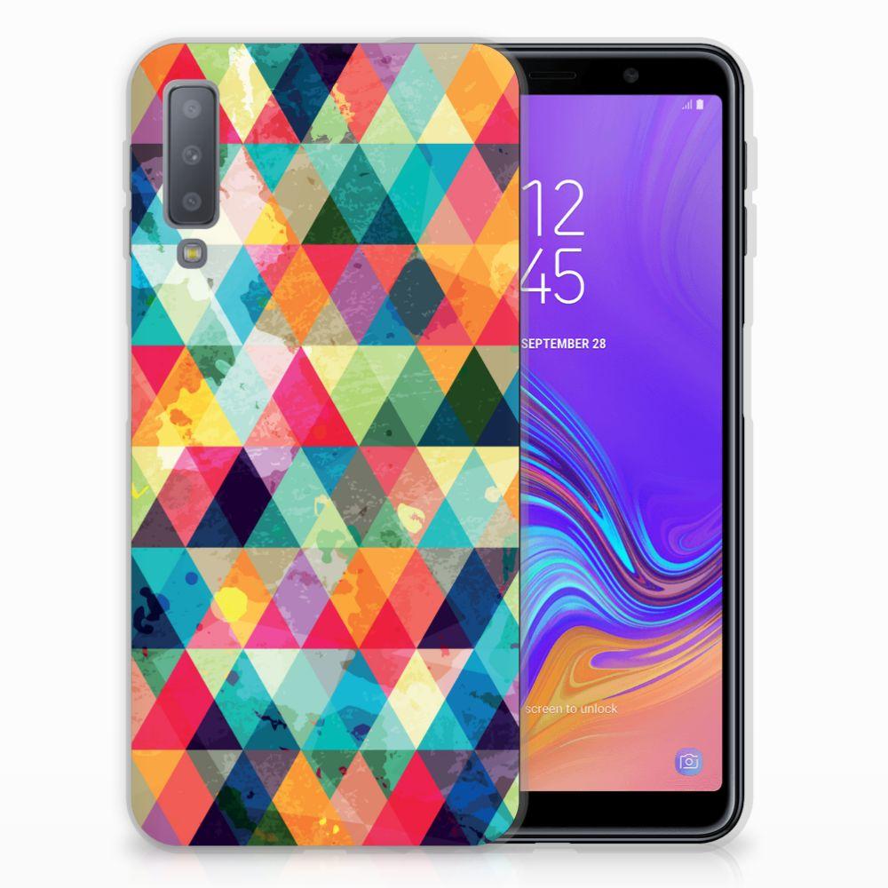 Samsung Galaxy A7 (2018) TPU bumper Geruit