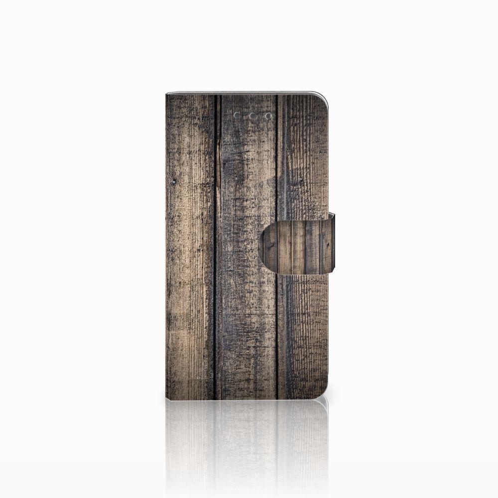 Wiko Fever (4G) Boekhoesje Design Steigerhout