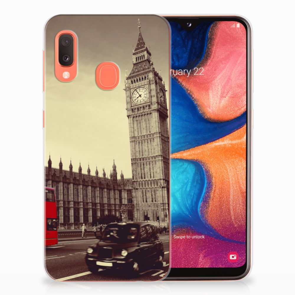 Samsung Galaxy A20e Siliconen Back Cover Londen