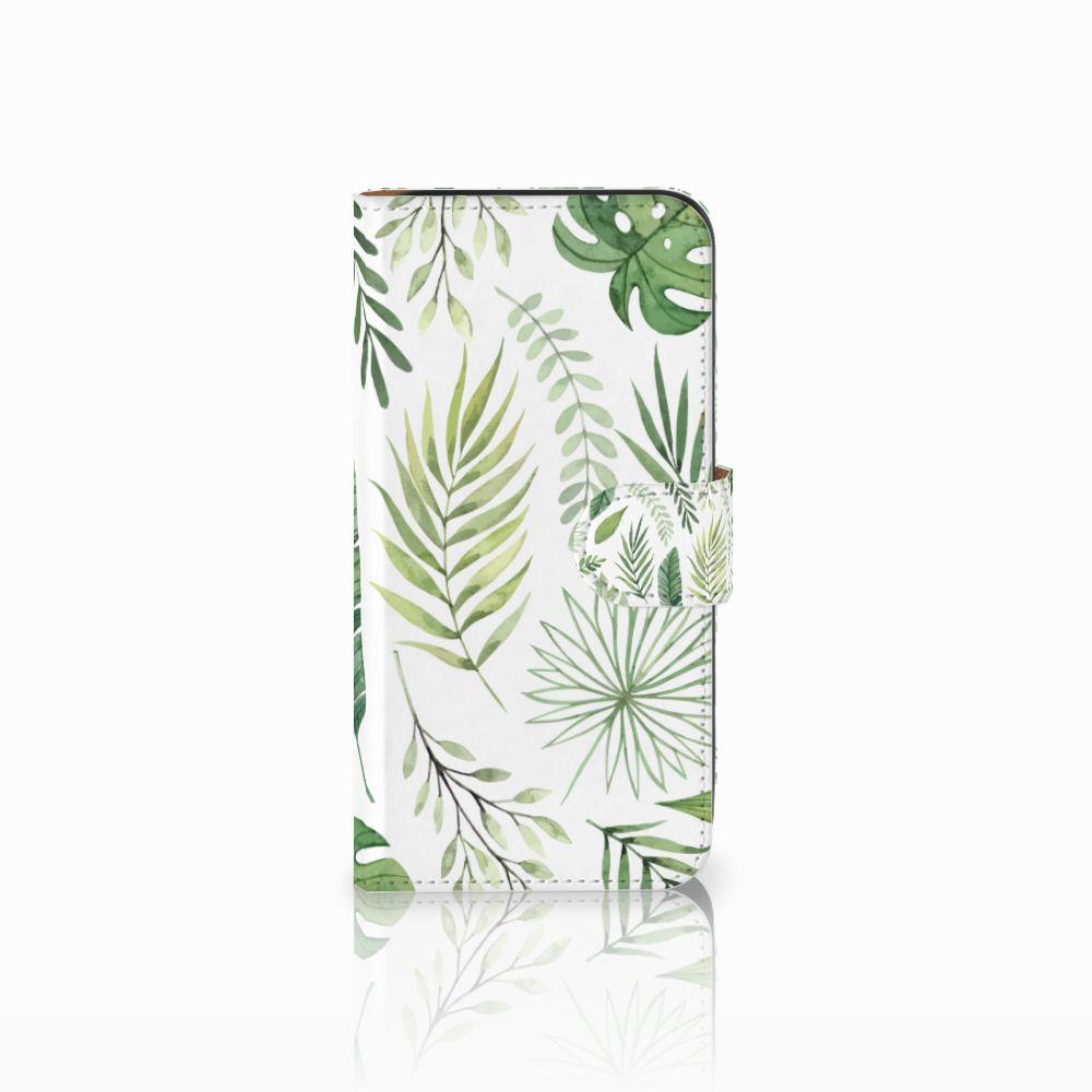 Samsung Galaxy E5 Uniek Boekhoesje Leaves