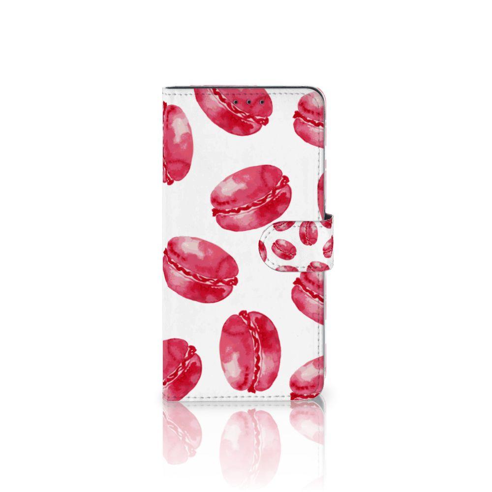 Samsung Galaxy A8 Plus (2018) Boekhoesje Design Pink Macarons