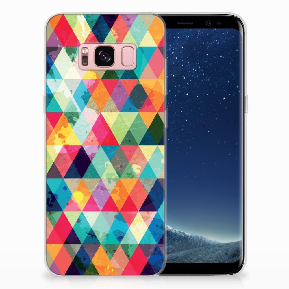 Samsung Galaxy S8 Uniek TPU Hoesje Geruit