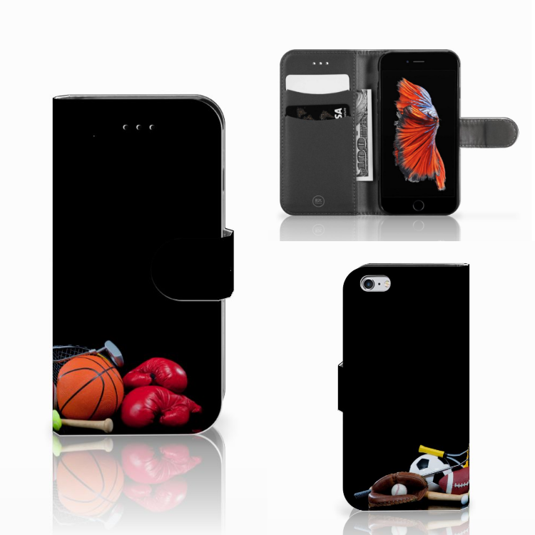 Apple iPhone 6 | 6s Wallet Case met Pasjes Sports
