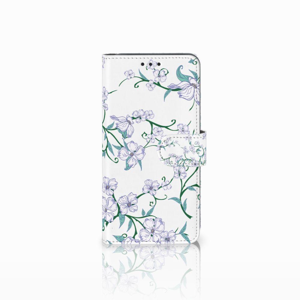 Samsung Galaxy A8 2018 Uniek Boekhoesje Blossom White