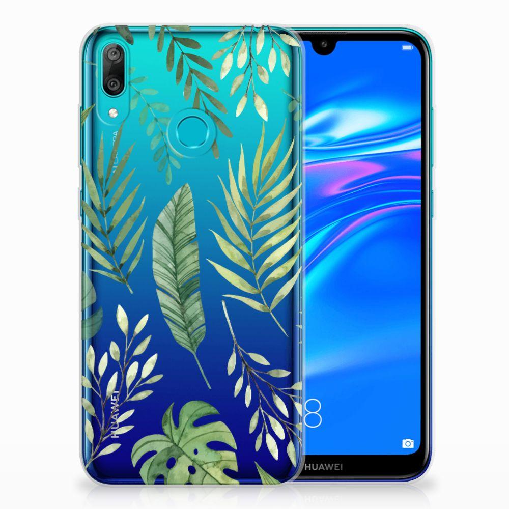 Huawei Y7 2019 TPU Case Leaves