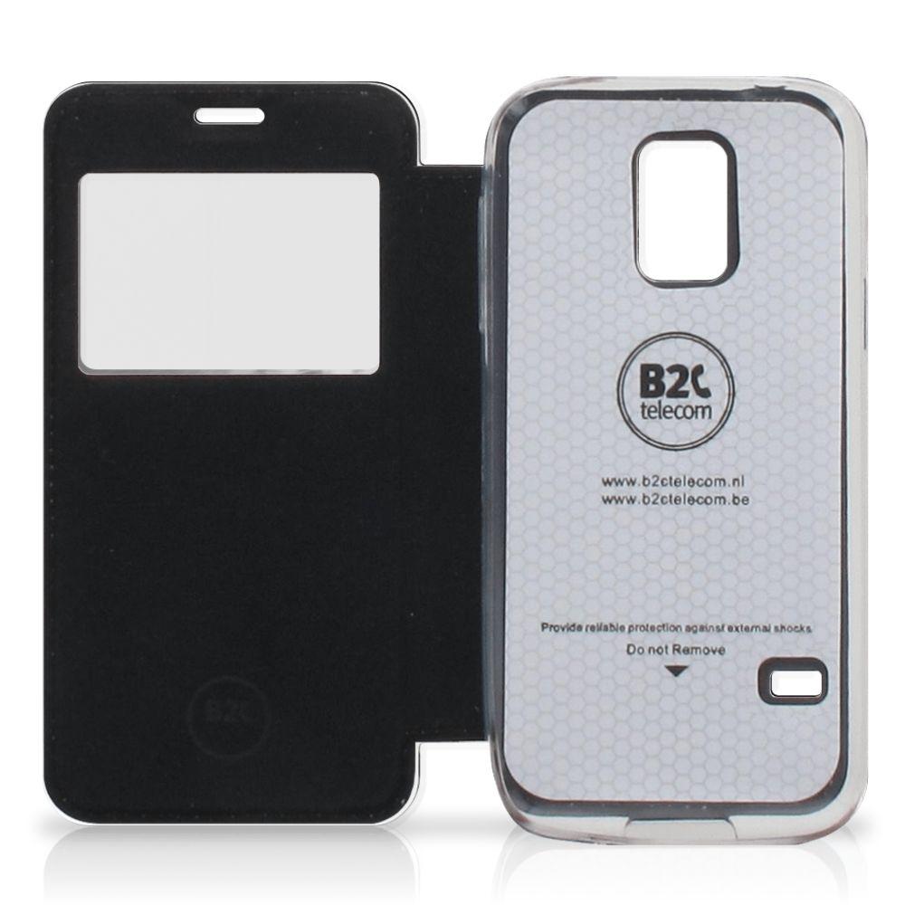Samsung Galaxy S5 Mini Telefoonhoesje met Pasjes Tijger
