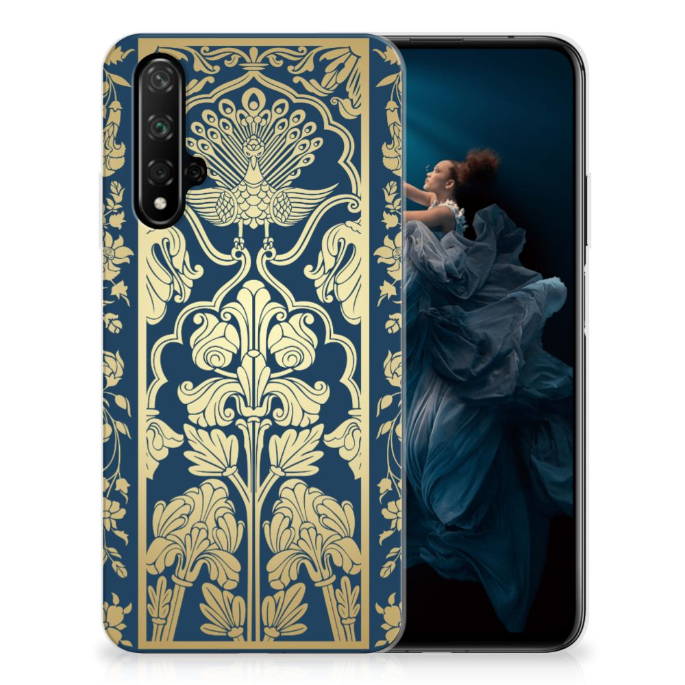 Honor 20 TPU Case Golden Flowers