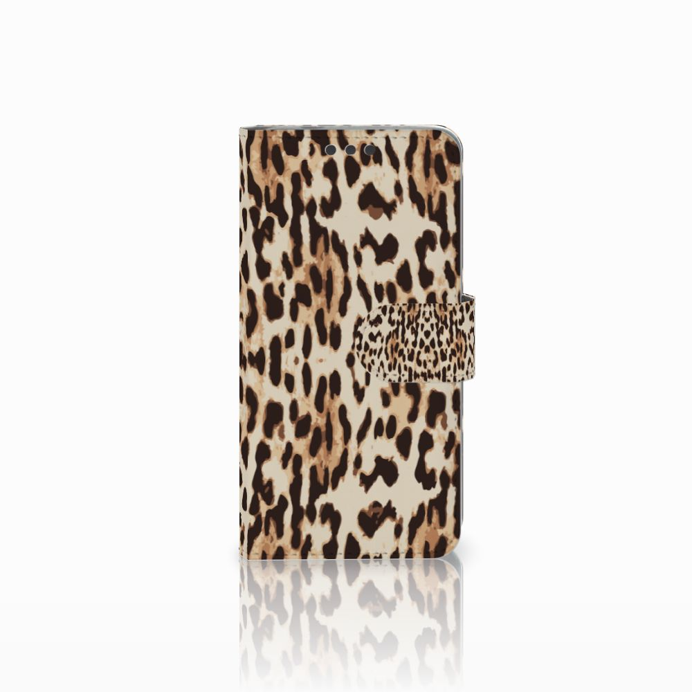 Microsoft Lumia 650 Uniek Boekhoesje Leopard