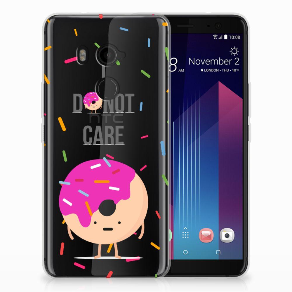 HTC U11 Plus Siliconen Case Donut Roze