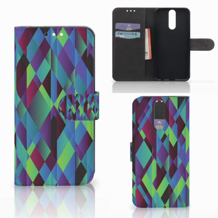 Huawei Mate 10 Lite Bookcase Abstract Green Blue