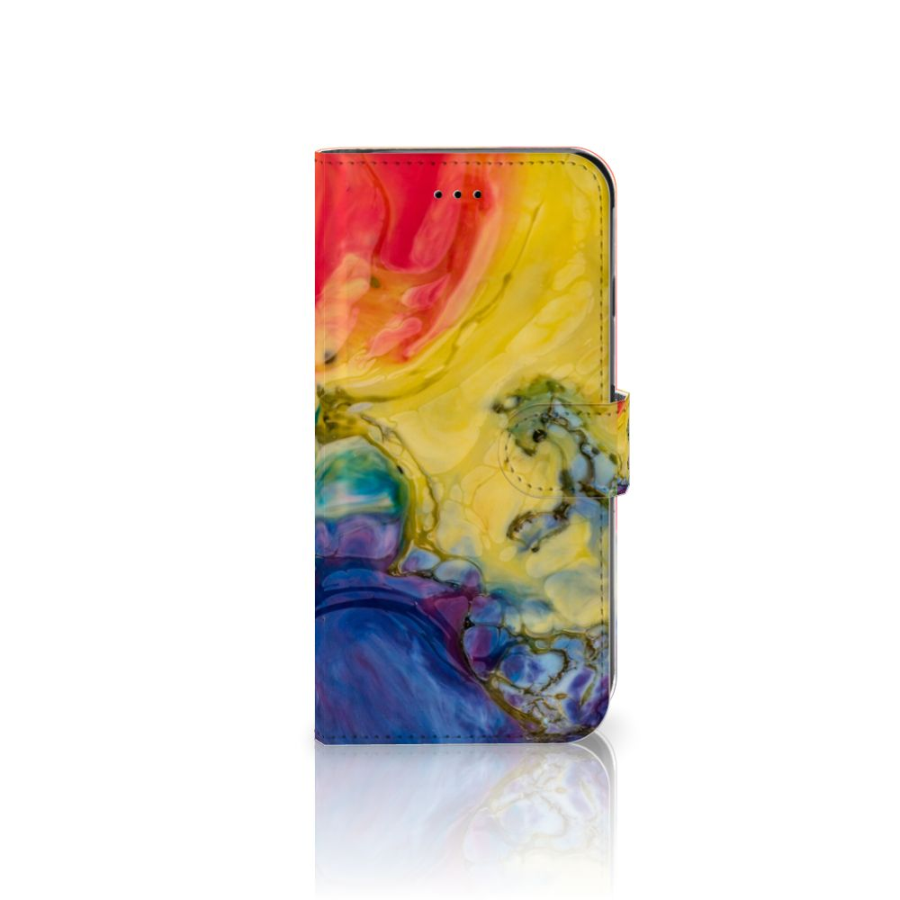 Apple iPhone 6 Plus | 6s Plus Uniek Boekhoesje Watercolor Dark