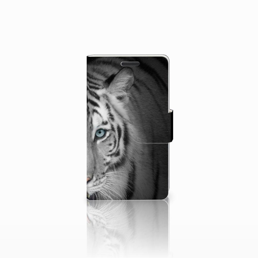 Microsoft Lumia 435 Uniek Boekhoesje Tijger