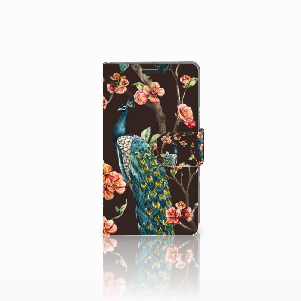 Nokia Lumia 625 Boekhoesje Design Pauw met Bloemen