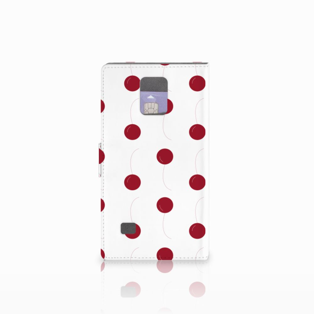 Samsung Galaxy Note 4 Book Cover Cherries
