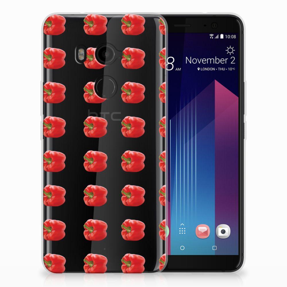 HTC U11 Plus Siliconen Case Paprika Red