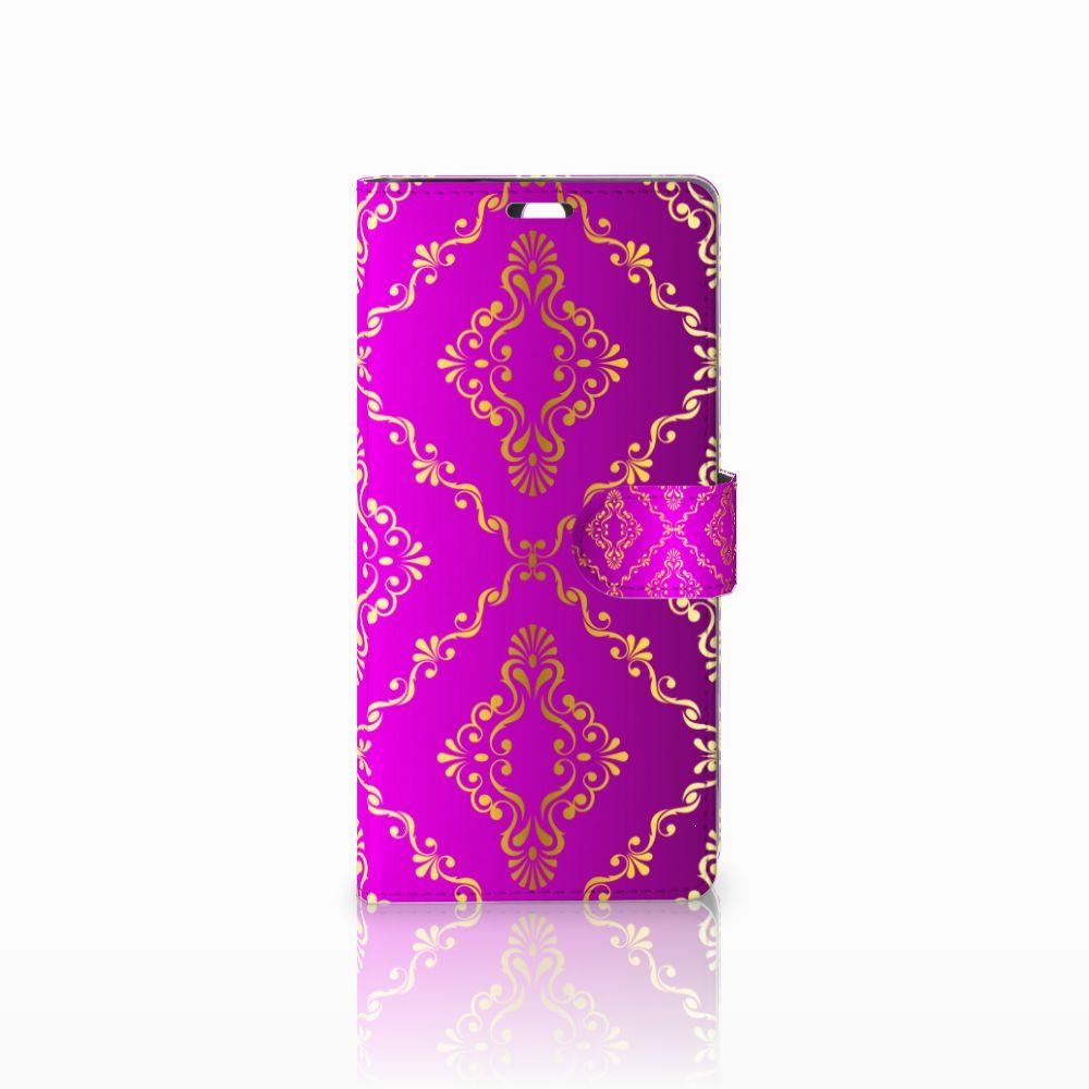 Wallet Case Sony Xperia C5 Ultra Barok Roze