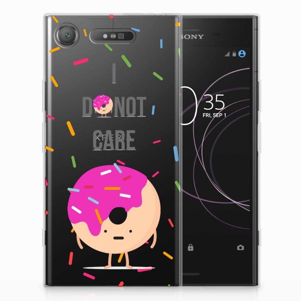 Sony Xperia XZ1 Siliconen Case Donut Roze