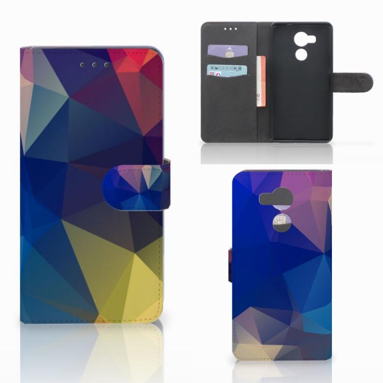 Huawei Mate 8 Bookcase Polygon Dark