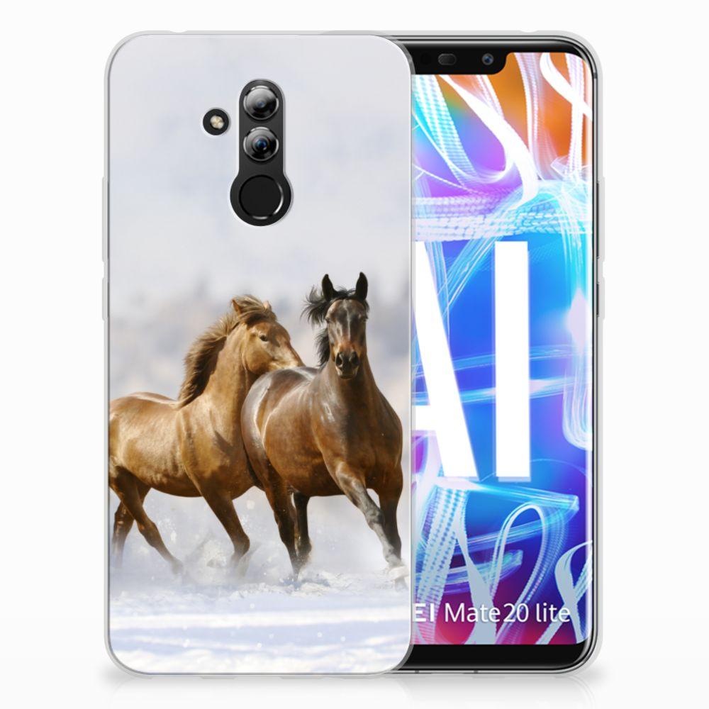 Huawei Mate 20 Lite TPU Hoesje Paarden